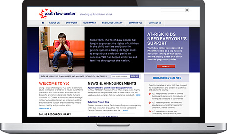Youth Law Center Website
